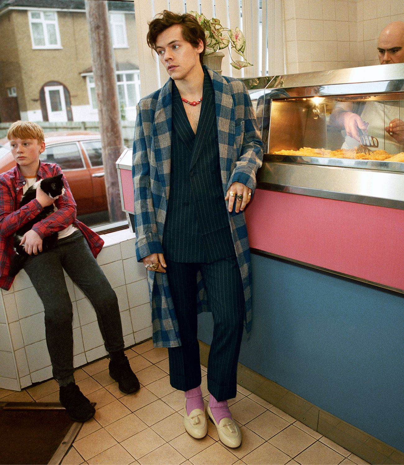 Harry Styles for Gucci Tailoring Fall 2018